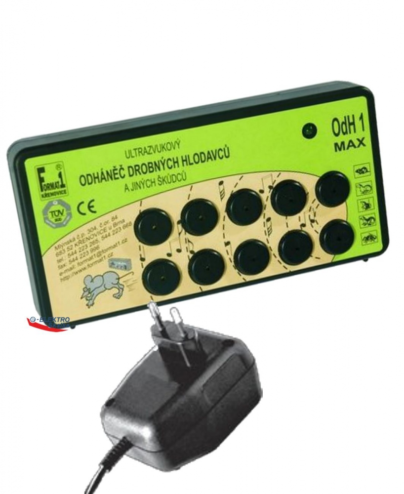 Odpuzovač hlodavců Format 1 OdH1 Max ultrazvukový a zdroj
