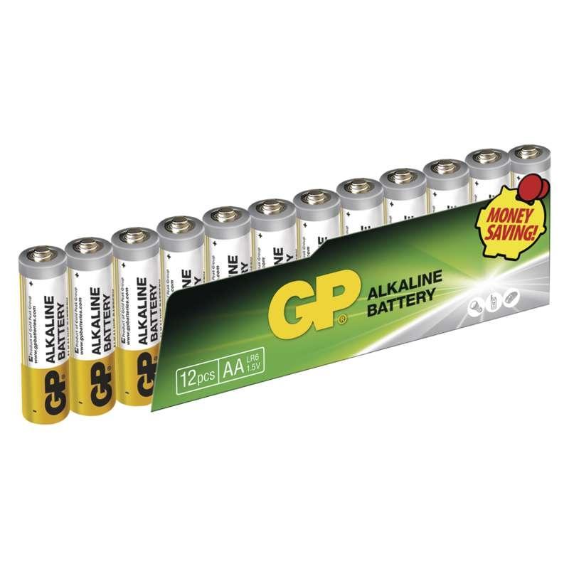 Baterie LR3 1,5V GP Alkalická Super AAA, 12ks mikrotužkových baterií