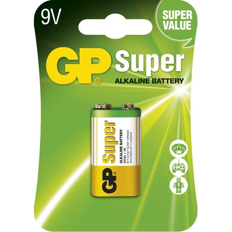 Baterie 9V 6LF22 GP Super Alkalická