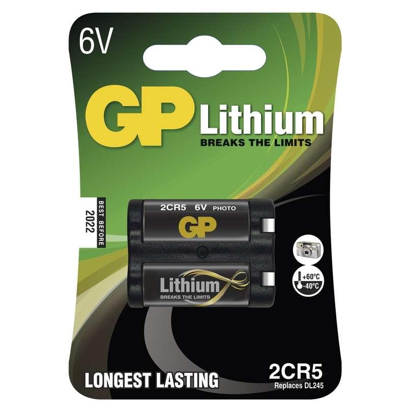 Baterie foto 2CR5 6V GP lithiová