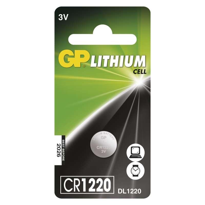 Baterie CR 1220 3V GP Lithiová knoflíková 1ks