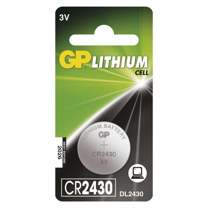 Baterie CR 2430 3V GP Lithiová knoflíková 1ks