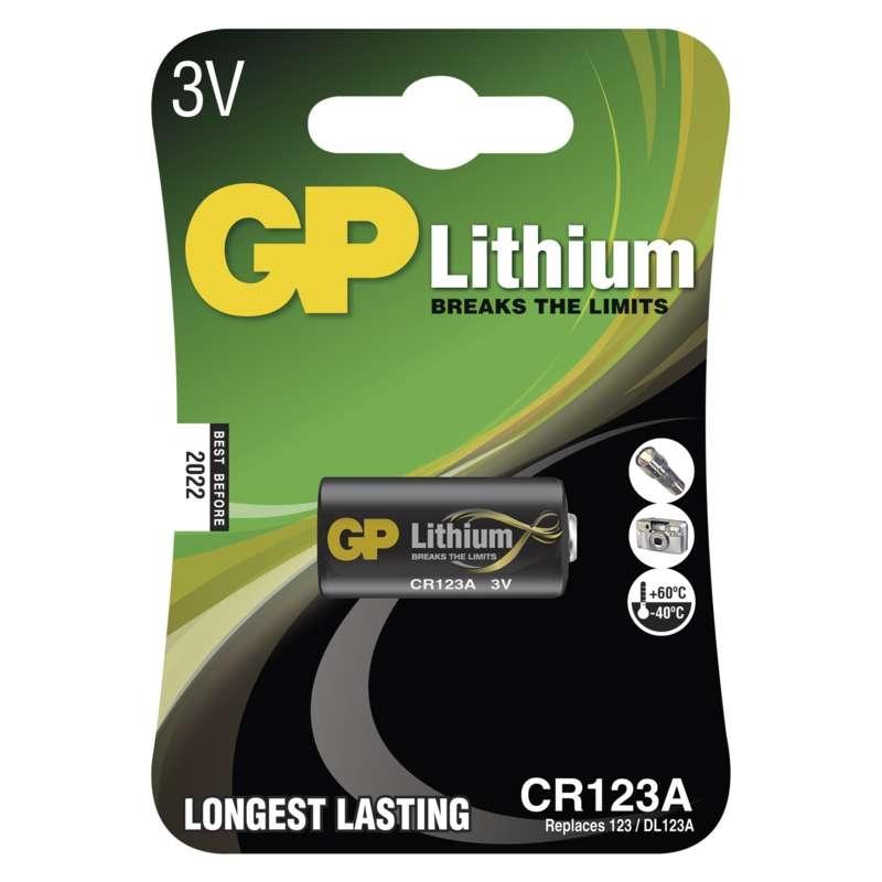Baterie foto 123A 3V GP Lithiová