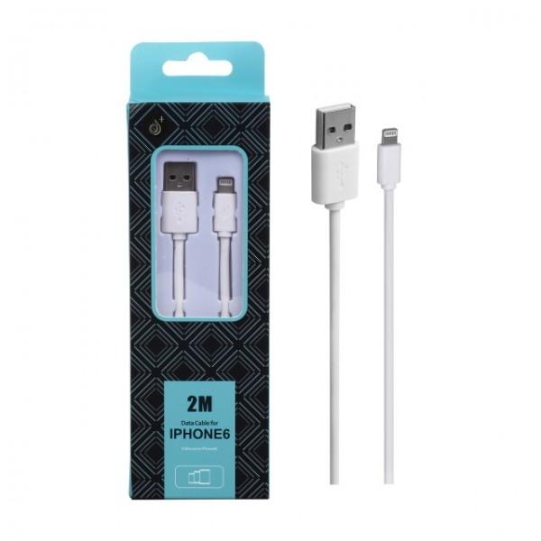 Nabíjecí kabel PLUS AA103 Pro Apple iPhone5 2m bílý