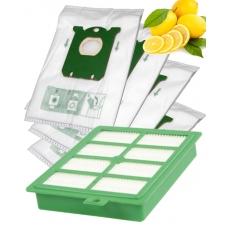Sáčky a HEPA Filtr pro PHILIPS HR 6368 CityLine s Aroma Citron vůní 1+4ks