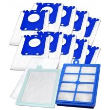 HEPA filtr v boxu pro S-BAG ELECTROLUX ErgoSpace ZE 311 , 10ks sáčků s filtry
